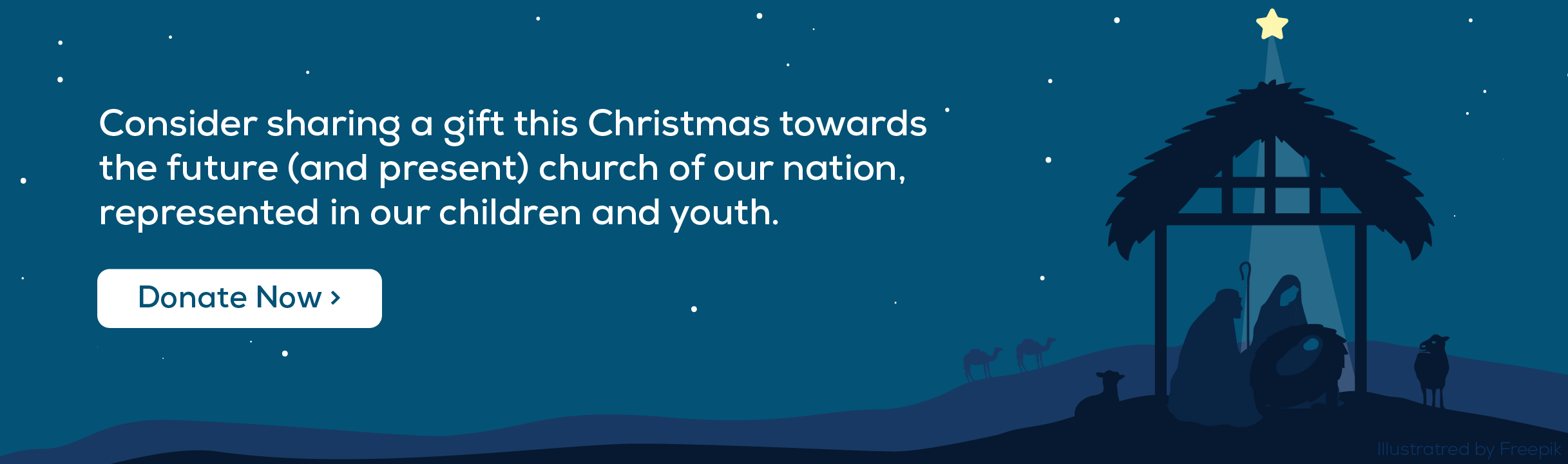 Consider sharing a gift this Christmas towards the future (and present) church of our nation, represented in our children and youth. Click here to donate now.