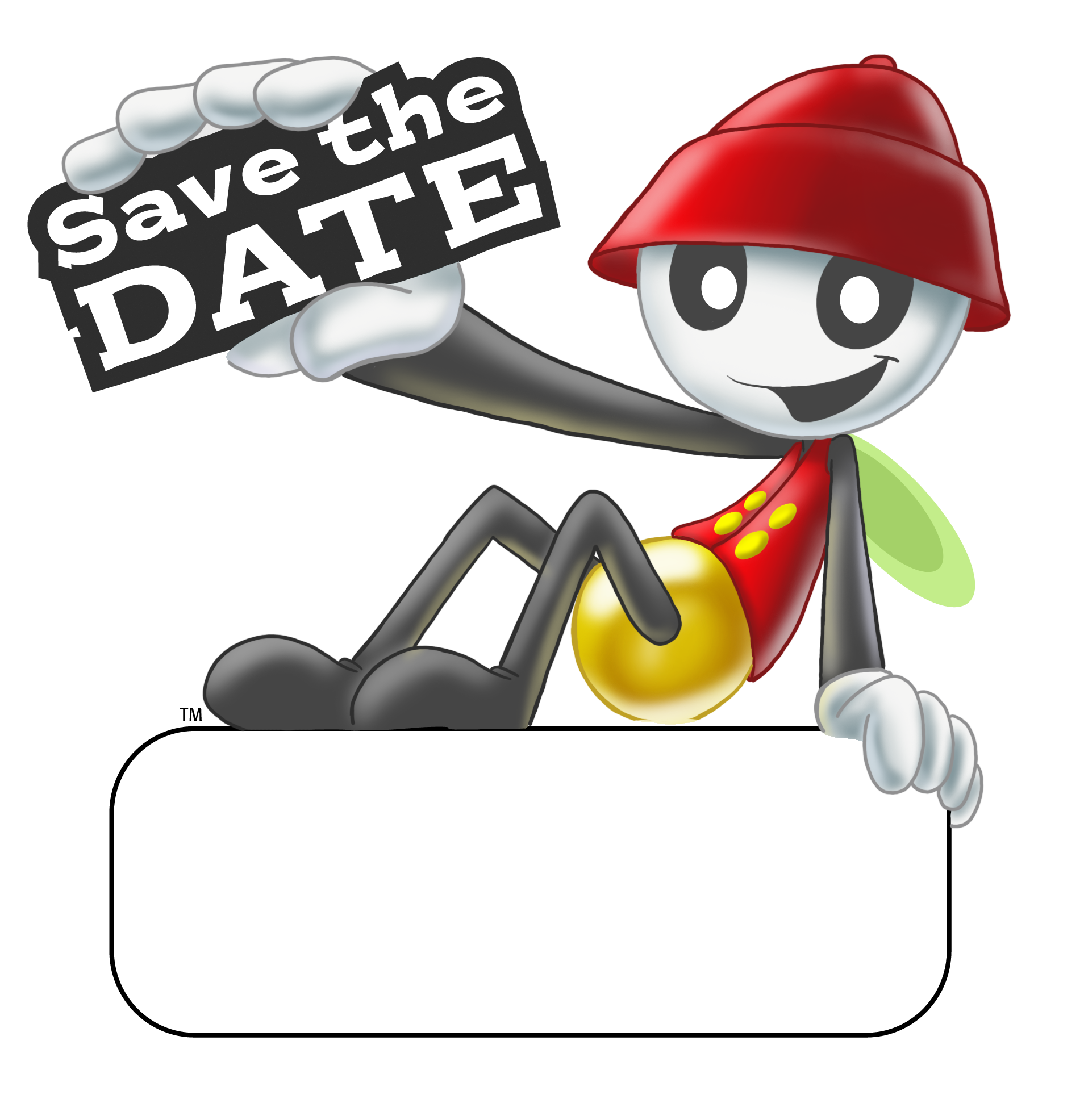 Save The Date Sparky PNG