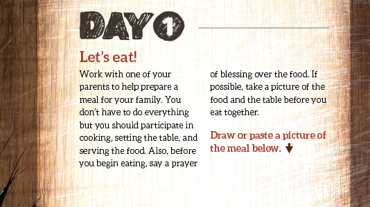 Day 1: Let's eat!